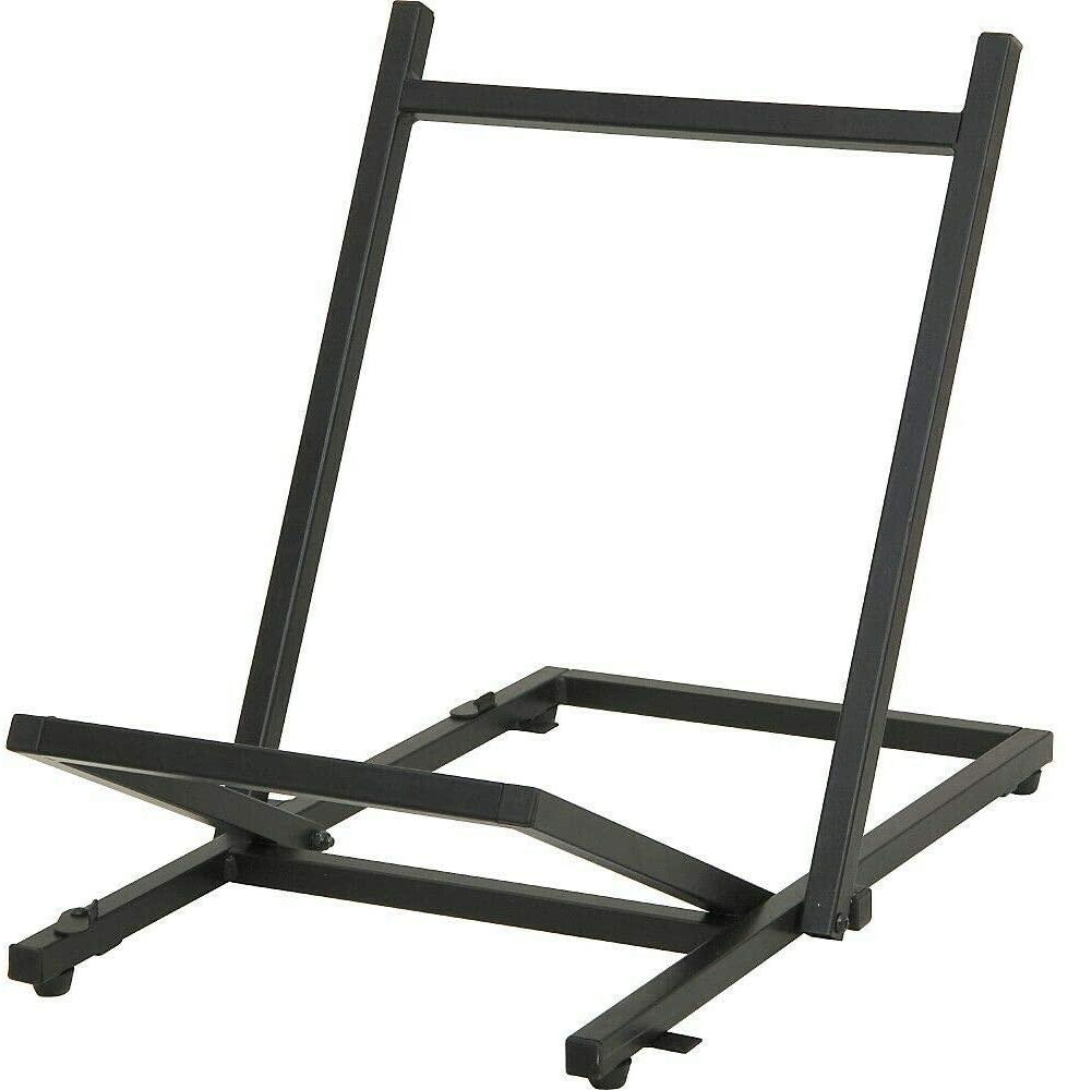 B083LRJFMN Large Folding Tiltback Amp Stand Black