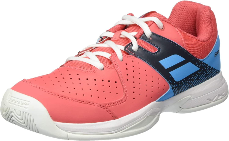 B07NNXS8CS Babolat Pulsion AC Junior Tennis Shoe (Pink/Blue)