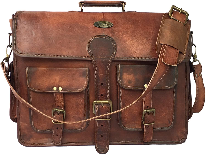 B07QZW1FRV Leather Messenger Bag  Leather Briefcase Bag  Leather Satchel Bag  Leather Crossbody Bag  Leather Computer Bag  Messenger Bag for Men  Briefcase Bag for Men  Leather Travel Bag  Laptop (18 Inch ND)