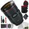 Canon 24-70 f.2.8L II USM 82mm Lens (Intl Model) + 6 Inch Vivitar Premium Lens Case + 3pcs UVLens Filter Kit + Cleaning Kit