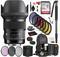 Sigma 50mm f/1.4 DG HSM Art Lens for Canon EF with Bundle: Sandisk 64gb SD Card, 9PC Filter Kit + More