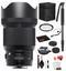 Sigma 85mm f/1.4 DG HSM Art Lens for Nikon F with Bundle Includes: UV Filter + 70'' Monopod + More