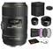 Sigma 105mm f/2.8 EX DG OS HSM Macro Lens for Nikon F with Bundle: 3pc Filter Kit + More