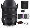 Sigma 24-70mm f/2.8 DG OS HSM Art Lens for Nikon F with Bundle: 3pc Filter Kit + More