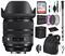 Sigma 24-70mm f/2.8 DG OS HSM Art Lens for Nikon F with Advance Bundle: Backpack + Sandisk 64gb SD+ More