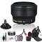 Nikon 32mm F/1.2 Lens (Black) with Lens Cleaning Kit, Filter Kits, Padded Lens Case, Backpack Carrier, Tripods