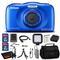 Nikon COOLPIX W100 Digital Camera(Blue) - Case, 16GB SD, Tripod, Case, and More