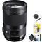 Sigma 40mm f/1.4 DG HSM Art Lens for Nikon F for Nikon F Mount + Accessories (International Model with 2 Year Warranty)