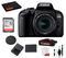 Canon EOS 800D (Rebel T7i) 18-55mm IS STM Lens Bundle –SanDisk 32gb SD Card + Cleaning Kit + MORE - International