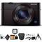 Sony Cyber-shot DSC-RX100 III Camera DSCRX100M3/B With Soft Bag, Tripod, 2x Extra Batteries, LED Light, 2x 64GB Memory Card, Card Reader , Plus Essential Accessories