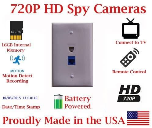 B008GUPRPY SecureGuard 30 Day Battery Powered Telephone Jack Spy Camera Hidden Nanny covert Cam