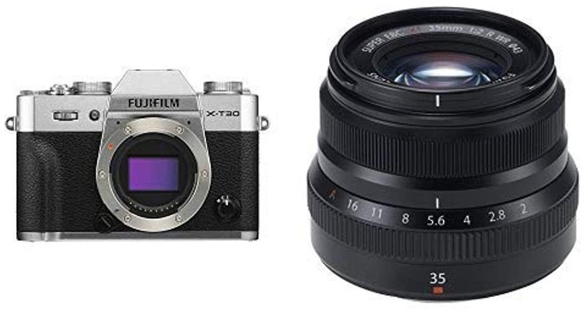 B07NQLJCN6 Fujifilm X-T30 Body Silver + Fujinon XF35mmF2 R WR Lens Black