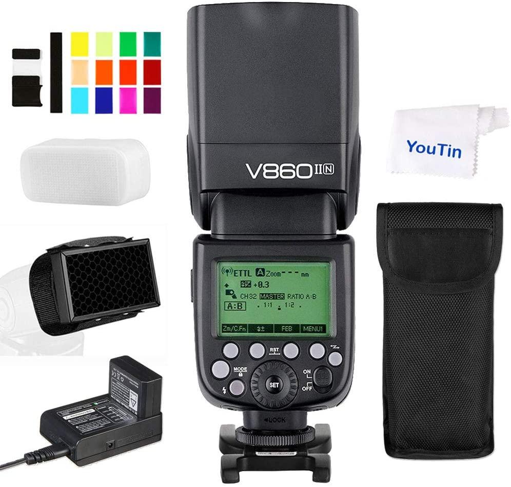 B07DNC2J27 Godox V860IIN TTL Camera Flash HSS 1/8000s Built-in Godox 2.4G Wireless X System GN60 Compatible with Nikon Cameras