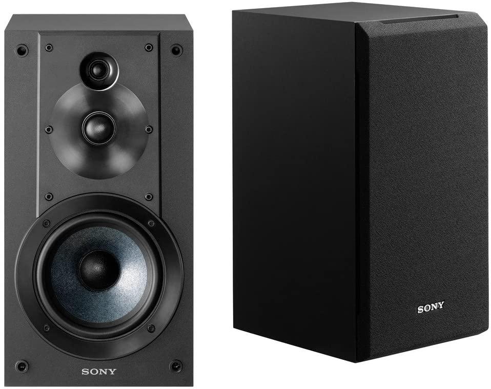 B07QXBWW6R Sony SSCS5 3-Way 3-Driver Bookshelf Speaker System (Pair) & Amazon Basics SW100ft 16-Gauge Speaker Wire - 100 Feet