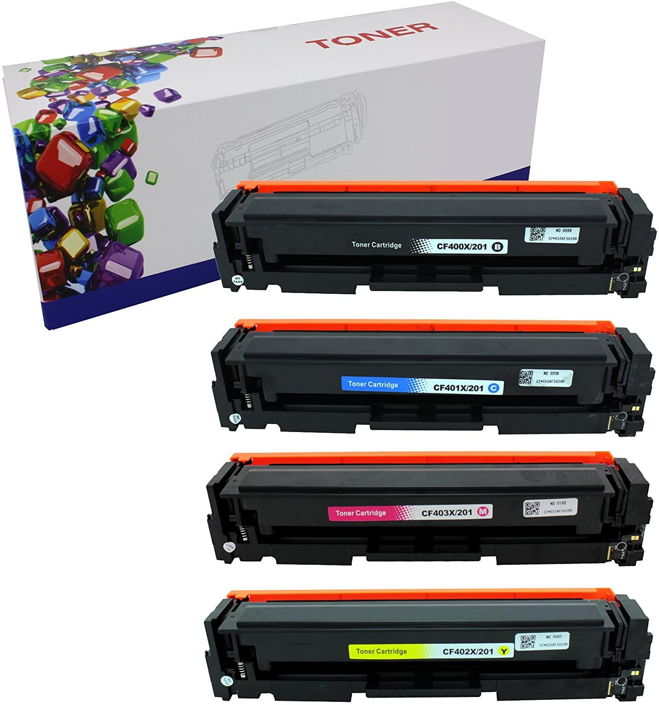 B01IQE9KMA HIINK Toner Replacement for HP 201 CF400 CF401 CF402 CF403 Color Toner Use with HP Laserjet M252dw M277dw M277n(Black, Cyan, Magenta, Yellow, 4-Pack)
