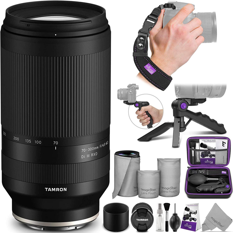 B08M4FMJ5S Tamron 70-300mm f/4.5-6.3 Di III RXD Lens for Sony E with Altura Photo Essential Accessory Bundle