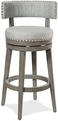 B082P9V73Y Hillsdale Furniture Lawton Swivel Bar Height Stool Antique Gray